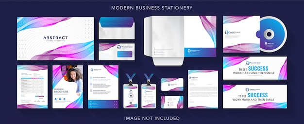 Corporate business identity stationery