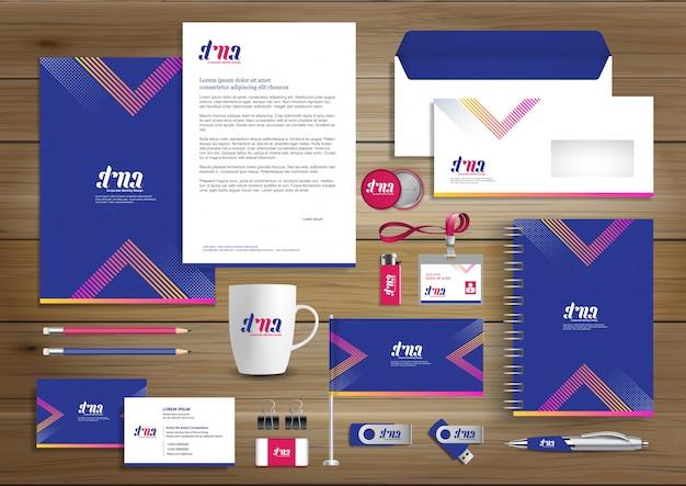 Corporate business  identity template design