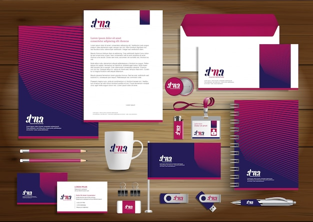 Corporate business  identity template