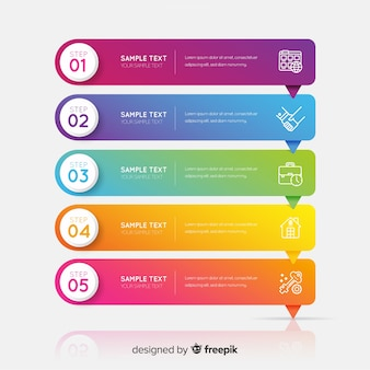 Corporate business infographic template, composition of infographic elements Premium Vector