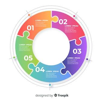 기업 비즈니스 infographic 템플릿, infographic 요소 구성