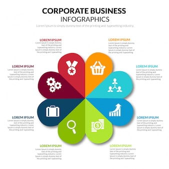 Corporate business infographics