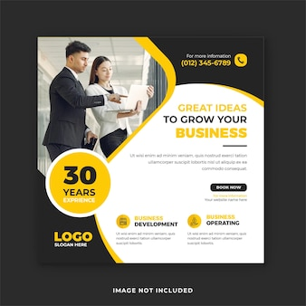 Corporate business instagram post templates and web banner design
