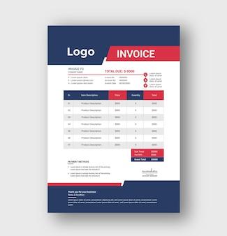 Corporate business invoice template