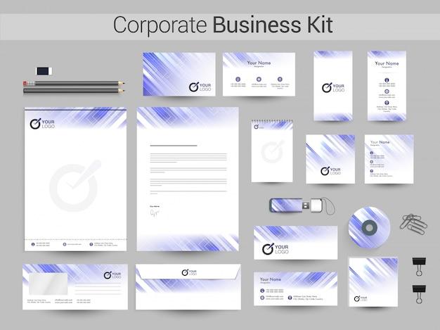 コーポレートビジネスキットは、紫と白の色です。