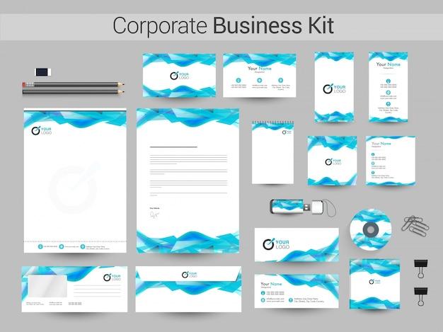 抽象的なデザインの企業ビジネスキット。