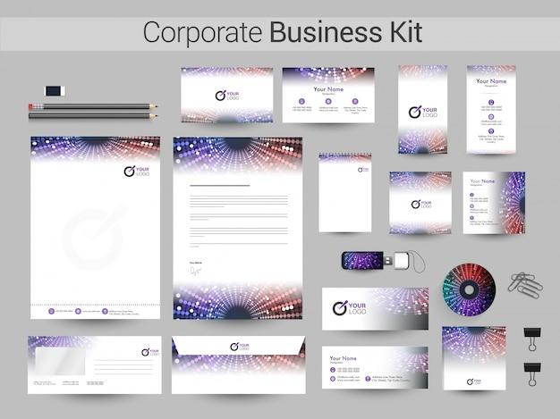 照明効果を持つ企業向けビジネスキット。