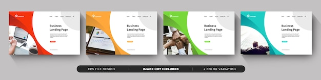 Corporate business landing page template