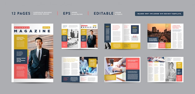 Corporate business magazine design | editorial lookbook layout | multipurpose portfolio | photo book design