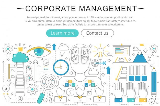 Corporate business managment concept