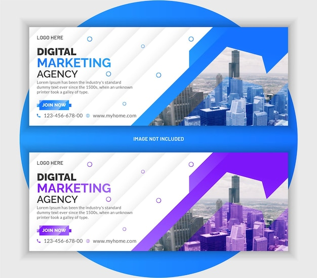 Corporate business marketing banner template design