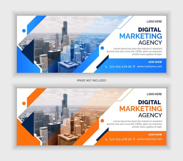 Corporate business marketing social media web banner template