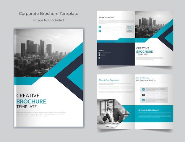 Корпоративный, деловой многоцелевой шаблон брошюры