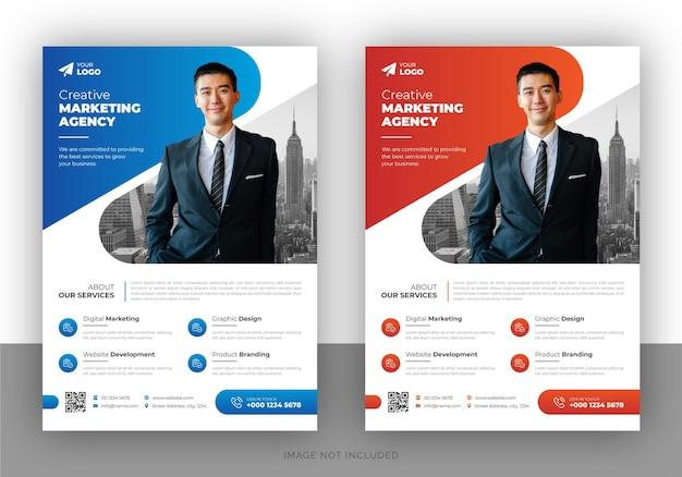 Корпоративный бизнес многоцелевой дизайн флаера и шаблон титульной страницы