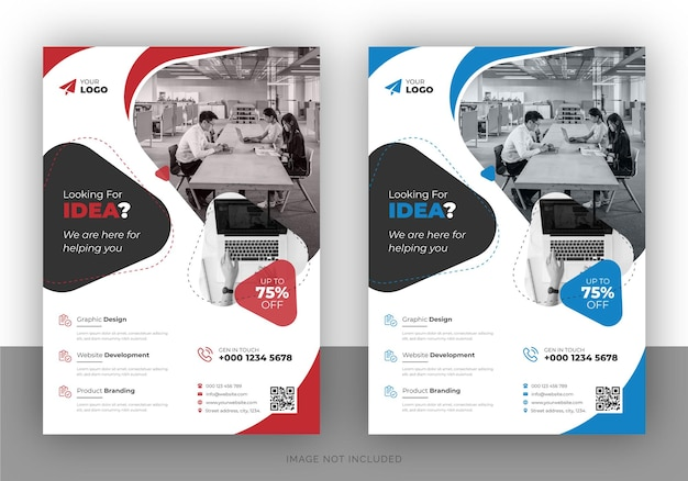 Corporate business multipurpose flyer design and   cover page template