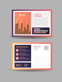 Corporate business postcard design