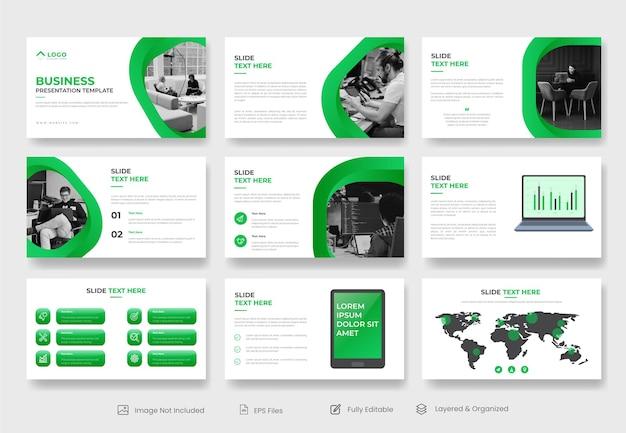 Шаблон слайда презентации powerpoint для корпоративного бизнеса