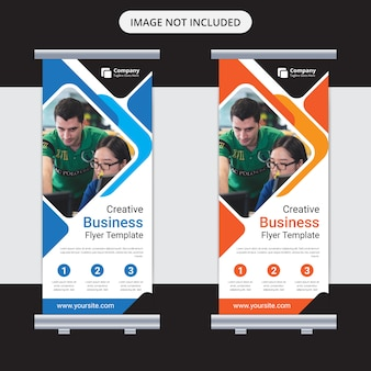 Corporate business roll up banner design template