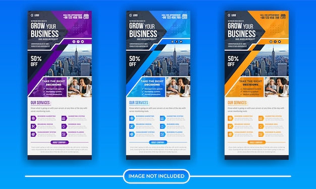 Corporate business roll up or stand banner template