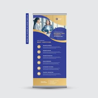 Корпоративный бизнес rollup баннер дизайн | встать баннер | вертикальные вывески | дизайн плаката