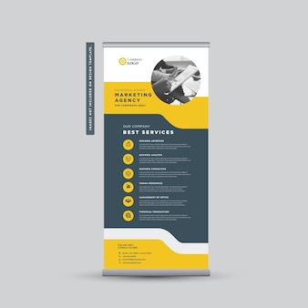 Corporate business rollup banner design