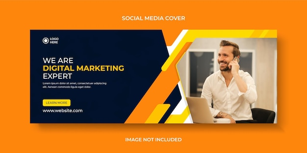Corporate and business social media banner or cover and facebook cover template