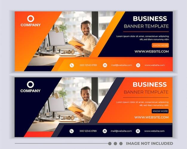 企業のビジネスソーシャルメディアバナーテンプレートデザイン。