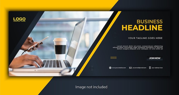 Corporate business social media cover banner