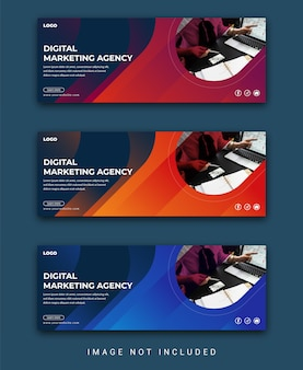 Corporate business social media cover or facebook cover template