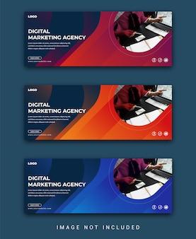 企業のビジネスソーシャルメディアカバーまたはfacebookカバーテンプレート