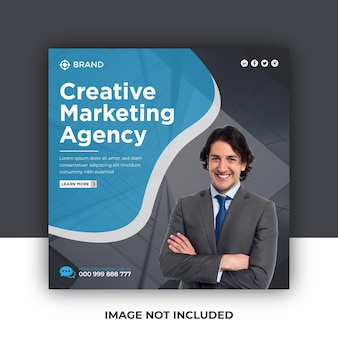 Corporate business social media instagram post or square web banner templat