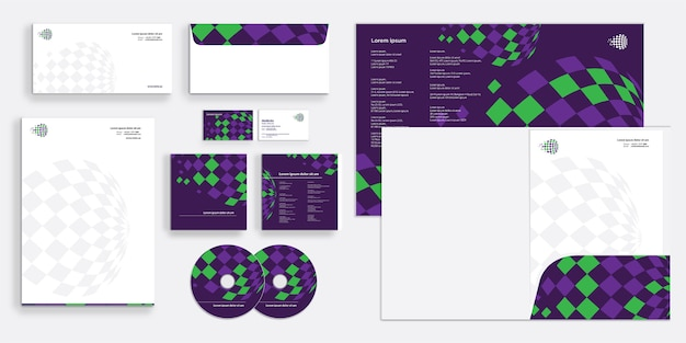 Corporate business stationary set
