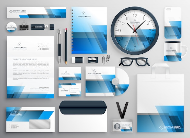 Corporate business stationery set