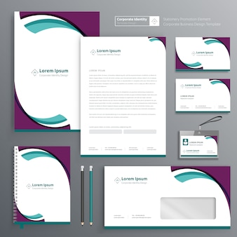 Corporate business stationery template
