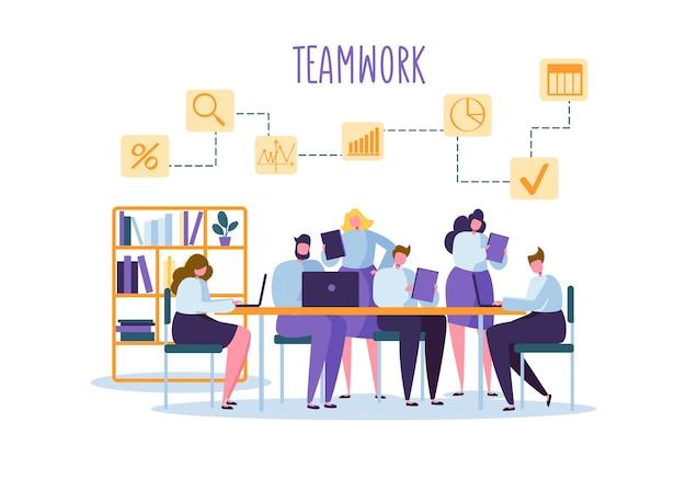 Корпоративный бизнес команда люди за столом