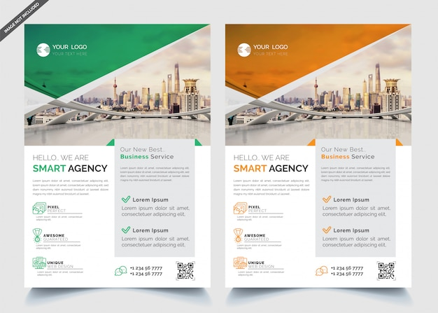 Corporate business template two side