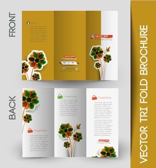 Корпоративный бизнес тройной макет и дизайн брошюры