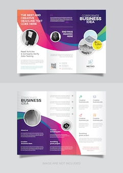 Corporate business trifold brochure design