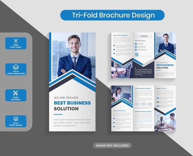 기업 비즈니스 trifold 브로셔 디자인