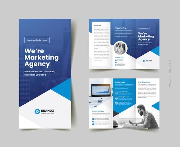 Corporate business trifold brochure template design