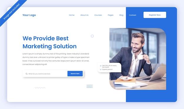 Шаблон дизайна пользовательского интерфейса целевой страницы корпоративного бизнес-сайта