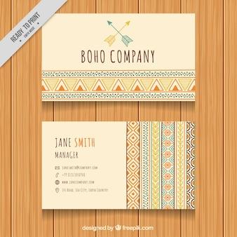 Banner carta aziendale in stile boho