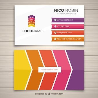 Corporate card in modern style
