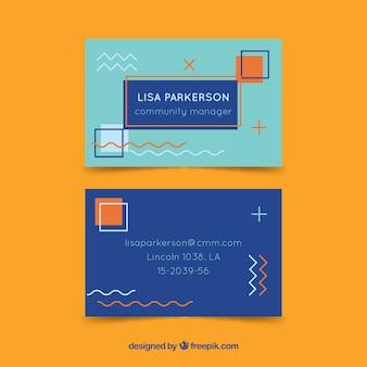 現代風のコーポレートカード