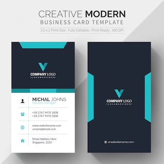 Corporate card template free