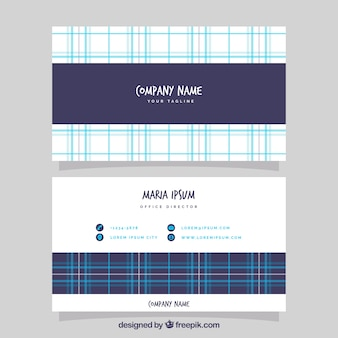 Corporate card with blue lines