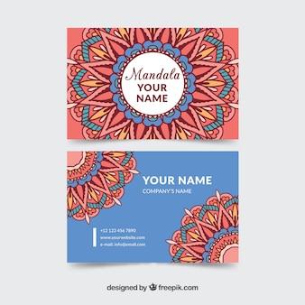 装飾マンダラのコーポレートカード