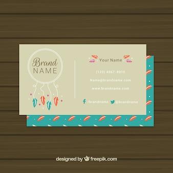 드림 캐쳐와 깃털 기업 카드