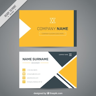 Corporate card with geometric shapes