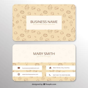 Corporate card with hand-drawn sweets